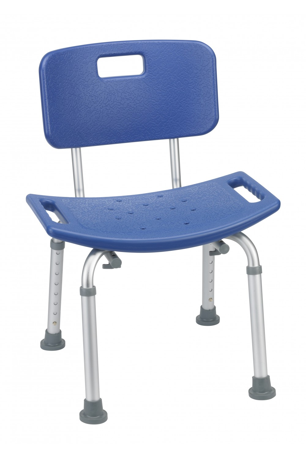 Blue Bathroom Safety Shower Tub Bench Chair With Back Gba Medical